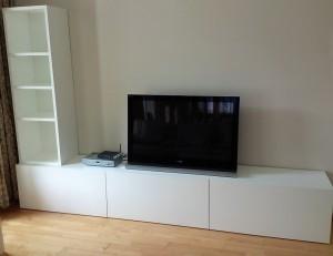 Mueble a medida para el televisor salón