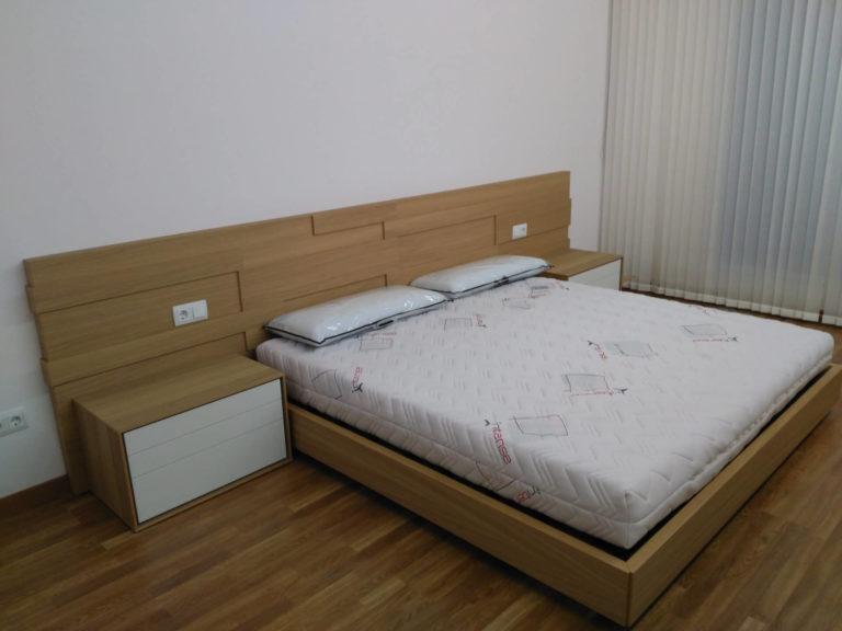 Habitación de matrimonio lacada en blanco